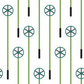 Retro Ski Poles (Daffy)