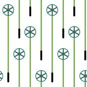 Retro Ski Poles (Teal)