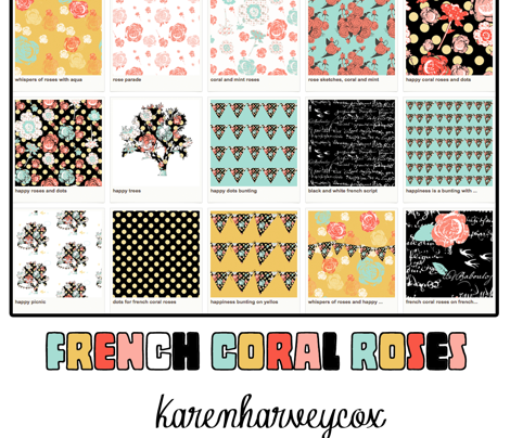 Happy Coral Roses and Dots
