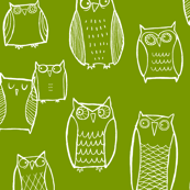 Little Night Owl green/white
