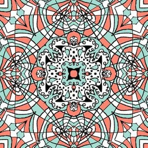 Doodle4 coral and mint 06 6 in
