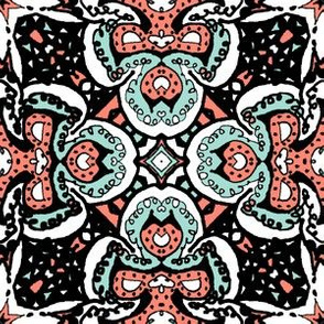 Doodle4 coral and mint 08 6 in
