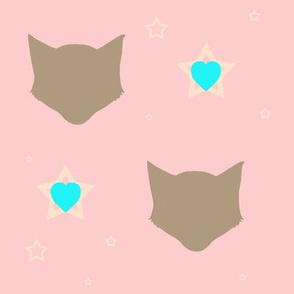 kittyhead: hearts & stars