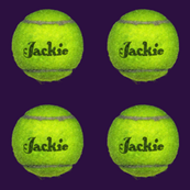 custom order - personalized tennis balls