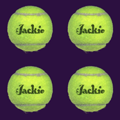 custom order - personalized tennis balls - Jackie