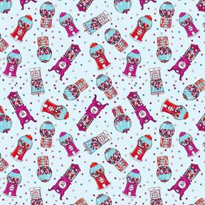 Cute Cartoon Gumball Machines