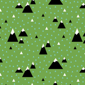 Triangle Mountains (Teal)