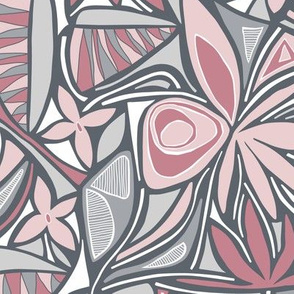 Floral Bliss (Pink and Gray)