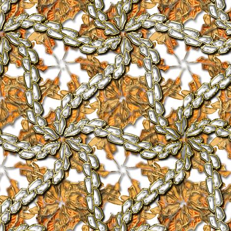 Leaf Swirls on Ice 2