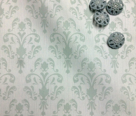 Soft Baroque Pattern Aqua