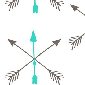 Blue Grey Tribal Arrow