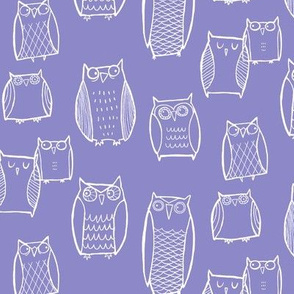 """Little"" Night Owl Lavender/White"