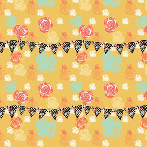 Whispers of Roses Happy Bunting