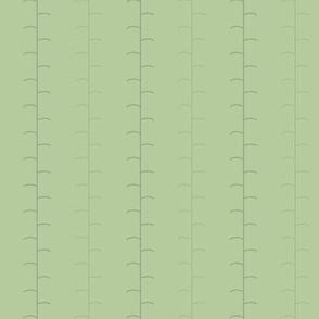 Tilled Rows in Garden Greens