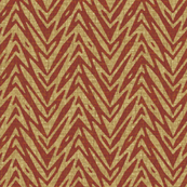 barkcloth feather zigzag - chestnut and summer brown