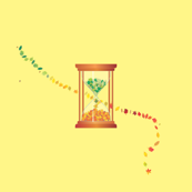 Hourglass-of-leaves
