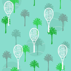 Tennis Anyone with Palm Trees