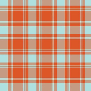 "2.5"" repeat MacQuarrie tartan, weathered"