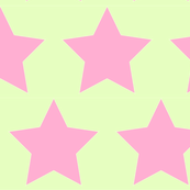 Pink star on yellow green background
