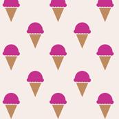 Raspberry Ice Cream Fabric
