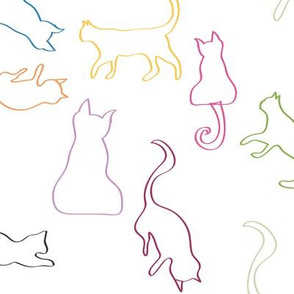 Mischievous Cats outline