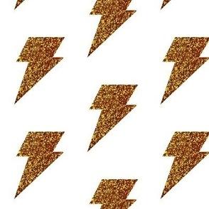 Gold ligtning bolts