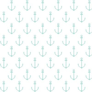 Nautical Anchor - Mint