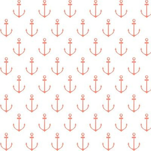Nautical Anchor - Coral