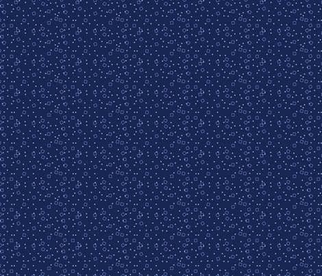 Ditsy Blocks and Dots (Blue)