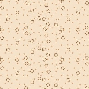 Ditsy Blocks and Dots (Coffee)