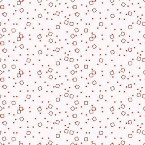 Ditsy Blocks and Dots (Red)