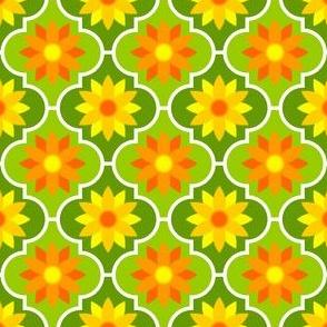 c-rhombus flower 2 - golds