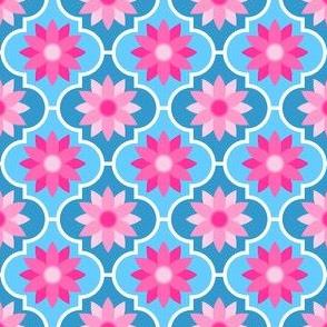 c-rhombus flower 2 - pinks