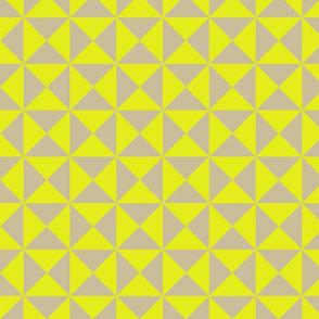 Trigonometry Neon Yellow on Natural