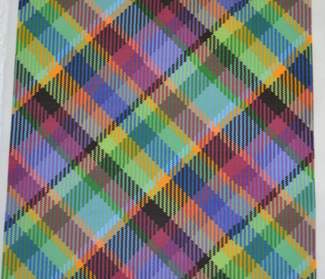 Madras Plaid Tropical Twilight