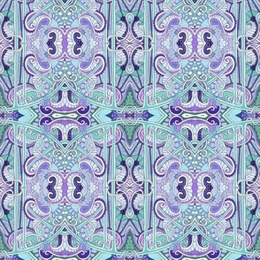 Twisted Vine Paisley and Scallop  Design