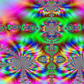 psychedelic rainbow fractal pink