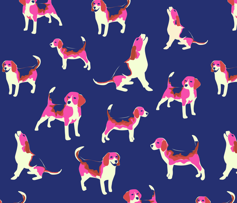 Beagles in Pink