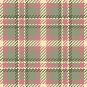 Blush and Moss Plaid