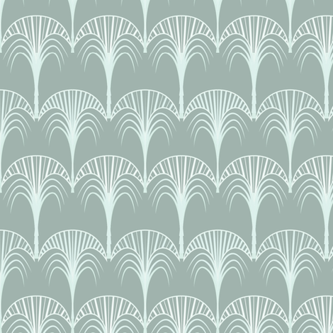 Art deco palm fabric arrpdesign spoonflower for Art deco style fabric