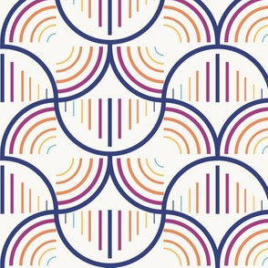 Seamless Geometric Circle Line Pattern