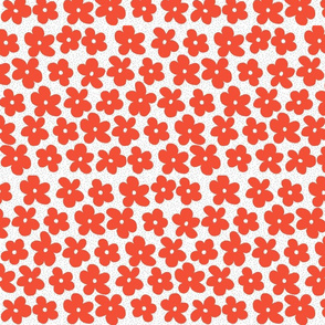 Flowers on dots