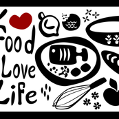 Love Food Love Life Tea Towel