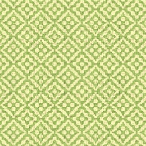 small tribal diamonds - green tea