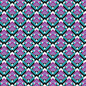 Arrows purple teal
