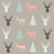 fawn  and fir