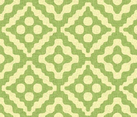tribal diamonds in green tea