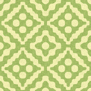 tribal diamonds in green tea