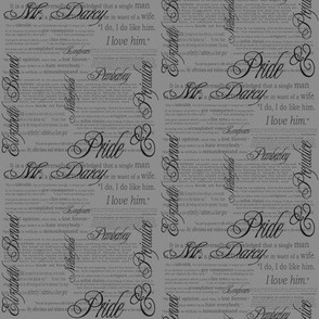 Pride & Prejudice Text (in Grey)