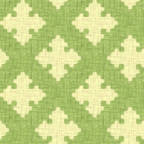 diamond crosses in green tea